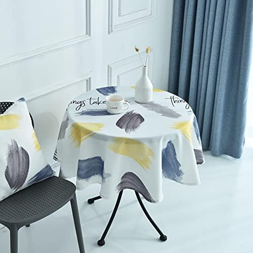 sans_marque Mantel de mesa, anti-derrame y anti-pliegue cubierta de tabla suave, utilizado para la decoración de mesa de la cocina 90cm