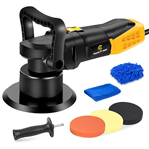 Buffer Polisher 6 Inch Dual Action Polisher with Variable Speeds Detachable Handles Polising Pads for Car Polishing Sanding Waxing C P CHANTPOWER