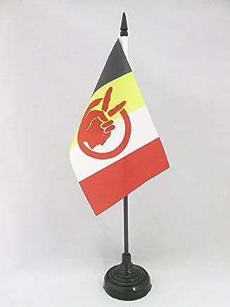 flaggen AZ FLAG TISCHFLAGGE American Indian Movement 21x14cm AIM TISCHFAHNE 14 x 21 cm