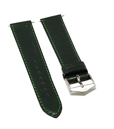 Fortis Leder Uhrenarmband Grün mit grüner Naht 18mm 8509