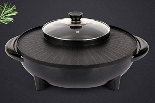 Placa eléctrica de múltiples funciones cocina barbacoa caliente Pot Maifan Piedra asado...