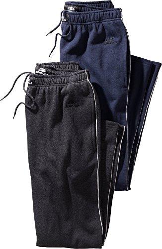 Nordcap Herren Jogginghosen-Set in Marineblau & Schwarz, kuschelige Sporthose im Doppelpack, Bequeme Freizeit-Hosen (Größe: S - XXXXL)