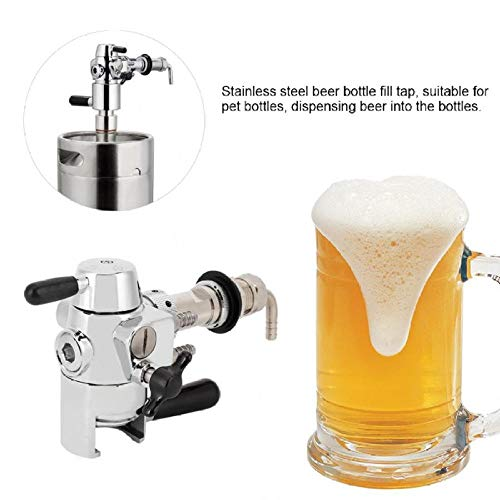 HtapsG Grifo Cerveza para Casa Grifo De Cerveza Botella De Cerveza De Acero Inoxidable Grifo De Llenado Accesorios De Llenado De Grifo De Cerveza Antiespumante-28Mm