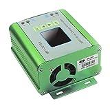 FHJZXDGHNXFGH Controlador de Carga Solar portátil MPT-7210A Pantalla LCD retroiluminada de 10A Regulador automático del Cargador de batería MPPT