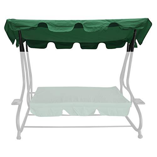 bonsport Ersatzdach für Hollywoodschaukel mit Volant - Dach Sonnendach für 2-Sitzer und 3-Sitzer, grün