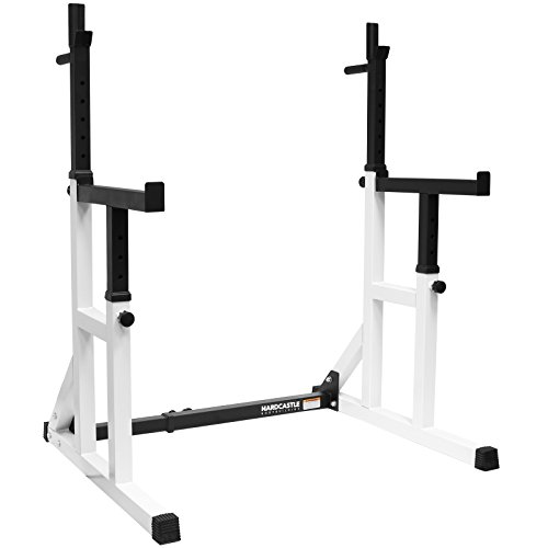 Hardcastle Bodybuilding Adjustable Squat Rack with Spotters & Dip Bars - 250kg Max Load