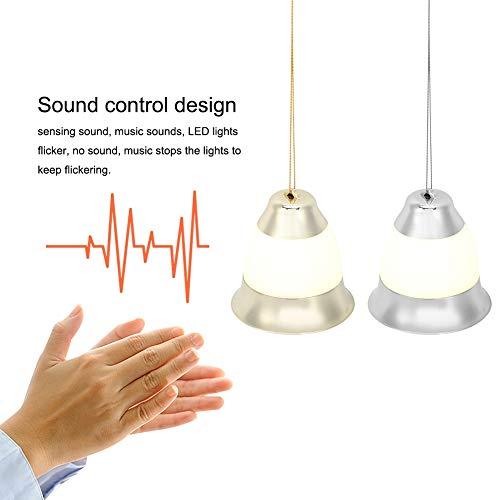 AUNMAS 1 para huishouden spraakbesturing kerstmuziek bel deur LED klok lamp voor kerstdecoratie