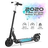 GeekMe Elektroroller E-Scooter Zusammenklappbarer Elektroroller Roller mit 3 Geschwindigkeitsmodi...