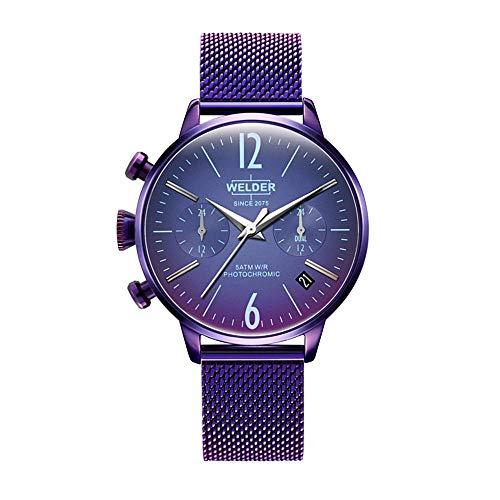 Welder Moody Damen Uhr analog Quarzwerk mit Edelstahl Armband WWRC740