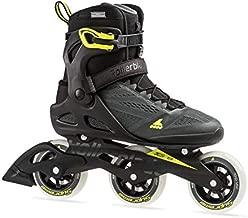 Rollerblade Macroblade 100 3Wd Men's Adult Fitness Inline Skate, Anthracite/Neon Yellow, Medium 13
