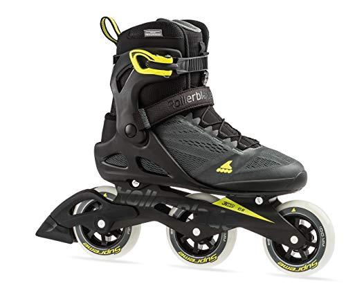 Rollerblade Macroblade 100 3Wd Men's Adult Fitness Inline Skate, Anthracite/Neon Yellow, Medium 12