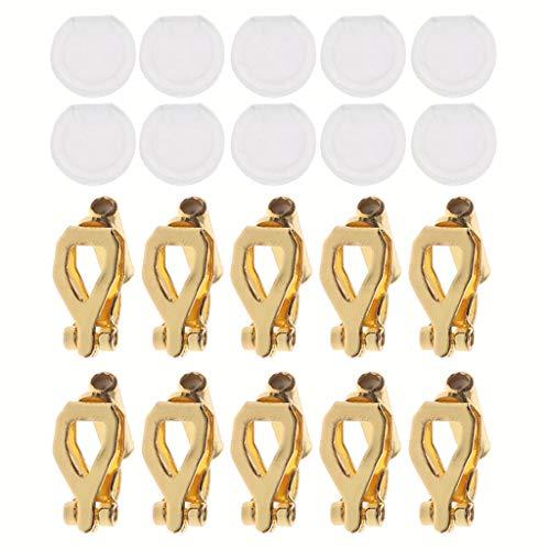 Nikunty En las almohadillas de oído ir redondo hebilla el convertidor de la vivienda de orejas en pendientes con percé Confort 20 piezas clip en