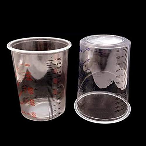 BANGNA 10 Uds Vasos de Mezcla de Pintura de plástico 600 ml Mezclador de Pintura Juego de Vasos calibrados