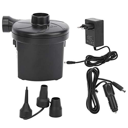 Bomba de aire eléctrica, bomba de CC para automóvil, bote de bomba de aire excelente y potente negro para piscinas, sofás de bañera(AC and DC air pump)