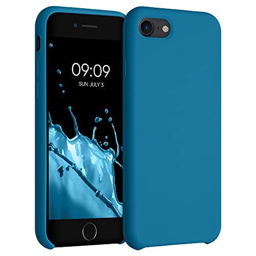 kwmobile Custodia Compatibile con Apple iPhone 7/8 / SE (2020) - Cover in Silicone TPU - Back Case per Smartphone - Protezione Gommata Blu Indaco