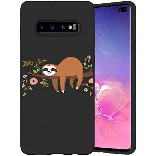 JOYLAND Cartoon Phone Case Cover for Galaxy S10 Lovely Sloth Phone Cover Slim Fit Flexible Matte Shock Absorption Phone Case Shell Compatible for Samsung Galaxy S10
