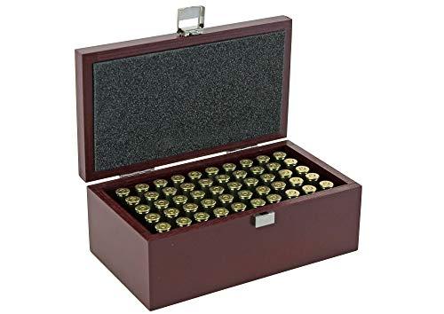 protectore Munitionsbox für 50 Patronen - Patronenbox - Holzkiste - passend für .357 Magnum.38 Special, 9 mm para etc. - dunkelrot lackiert - B-Ware