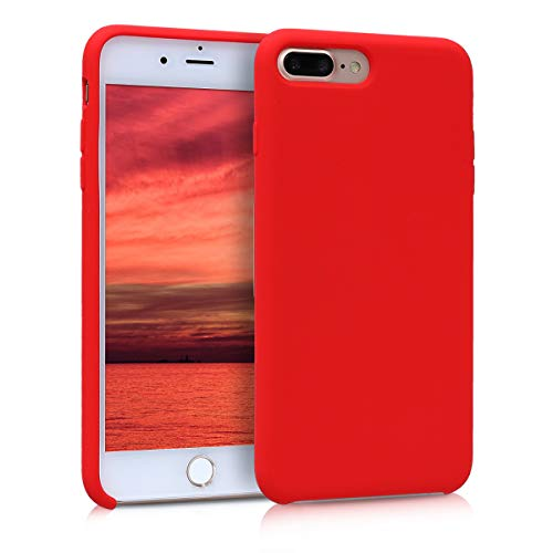 kwmobile Funda Compatible con Apple iPhone 7 Plus / 8 Plus - Carcasa de TPU para móvil - Cover Trasero en Rojo