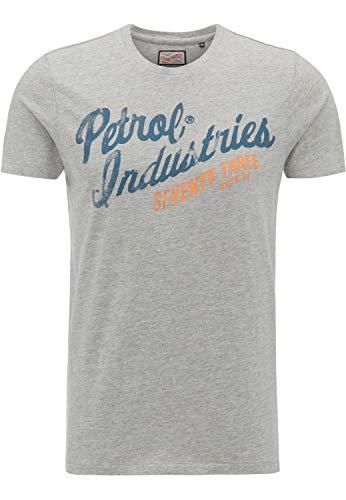 Petrol Industries Herren M-SS18-TSR654 T-Shirt, Grau (Light Grey Melee), XXL