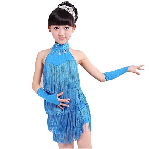 Mädchen Latin Kleid Tanzkleid Kinder Turnierkleid Tanzkostüm Quaste Kleid Latein Salsa Tango Rumba Performance Kleidung