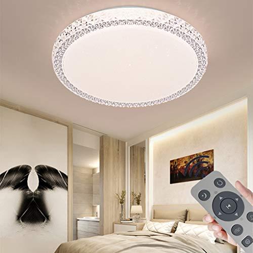 36W LED Deckenleuchte Dimmbar, Deckenlampe Kristall Sternenhimmel Leuchte für Flur, Wohnzimmer, Küche, Büro, Modern Lampe Schutzart, Energie Sparen Licht, Dimmbar (3000-6500K) inkl. Fernbedienung (36)