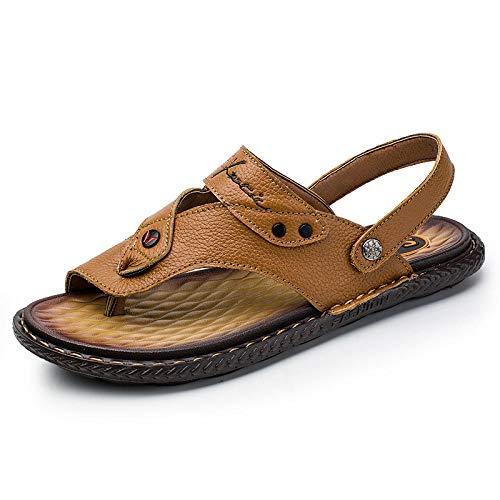 Sandalias antideslizantes de verano masculino clip dedo del pie sandalias casual playa zapatos flip-flops-yellow_44