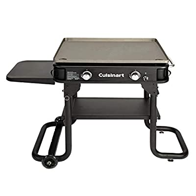 """Cuisinart Flat Top Professional Quality Propane CGG-0028, Two-Burner Gas Griddle, 28"""""""
