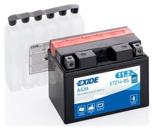Batteria moto EXIDE ETZ14-BS 11.2AH YTZ14-BS 205N dimensioni 150X87X110