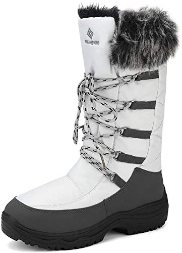 DREAM PAIRS Women's Maine Grey Taupe Knee High Winter Snow Boots Size 9 M US