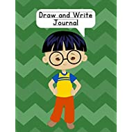 Draw and Write Journal: Composition NoteBook for Kids - Paper With Primary Lines and Half Blank Space for Drawing Pictures - 140 Pages - Boy Design #4