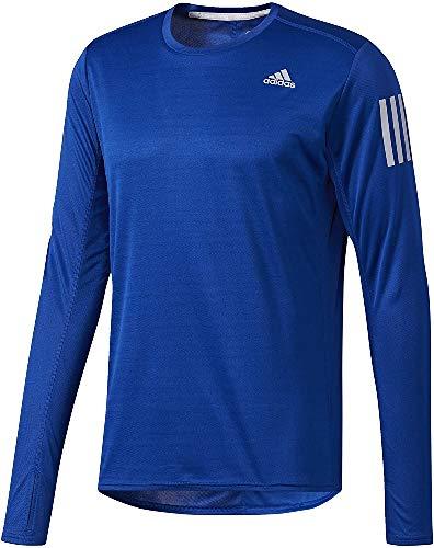 adidas RS LS tee M Camiseta de Manga Larga, Hombre, Azul (Reauni), XL