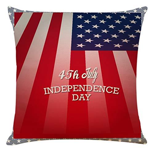 OPAKY Wohnkultur Kissenbezug Independence Day Kissenbezug Sofa Dekokissenbezüge
