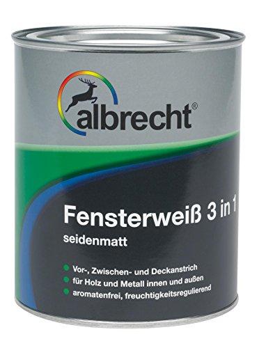 Lackfabrik J. Albrecht GmbH & Co. KG 3400550100000000750 Fensterweiß 3 in 1 reinweiß 750ml