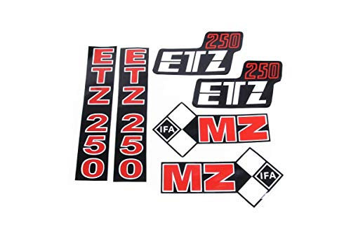 Schriftzug, Aufkleber Komplettsatz für MZ ETZ 250