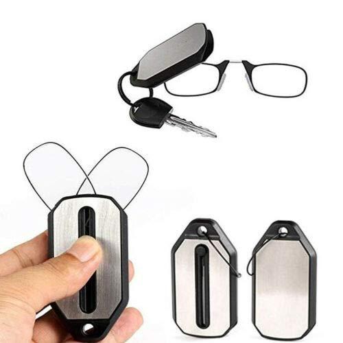 Fengyuanhong Mini Plegable Clip de la Nariz Periódico Gafas...