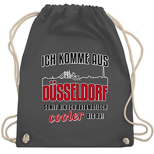 Städte - Ich komme aus Düsseldorf - Unisize - Dunkelgrau - baumwoll turnbeutel - WM110 - Turnbeutel und Stoffbeutel aus Baumwolle