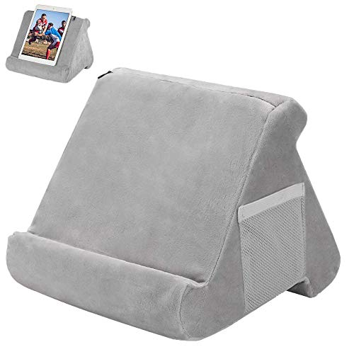 Tablet Pillow Mini Tablet Computer Holder Multi-Angle Soft Lap Stand for Tablets Books Magazines eReaders, Rest Reading Support Cushion Used On Bed, Desk, Car, Sofa, Lap, Floor, Couch
