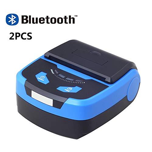 Fantastic Deal! ZUKN Two Pieces/80MM Mini Thermal Receipt Printer Barcode Receipt Fast Printer Suppo...