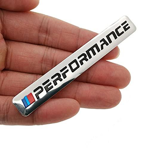 Insignia del logotipo del emblema, 1 unids pegatina de parachoque el logotipo de la insignia accesorios del automóvil Pegatina m Power Power para BMW M 1 3 4 5 6 7e Z x M3 M5 M6 Emblema nline,Plata