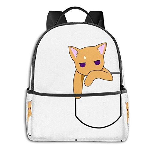 Hdadwy Fruits Basket-Kyo The Pocket Cat Student School Bag School Cycling Leisure Travel Camping Outdoor Backpack