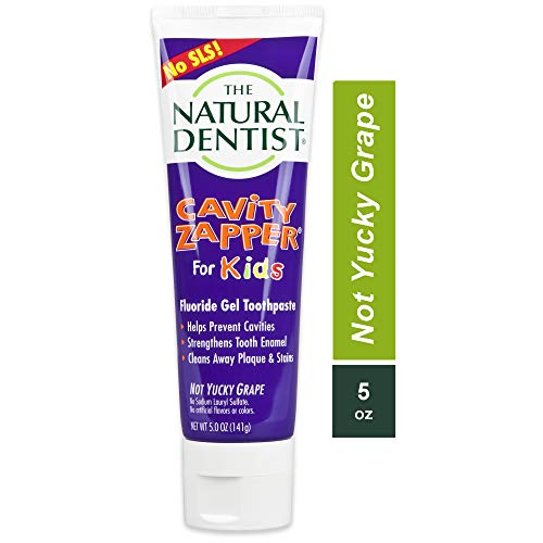 The Natural Dentist Cavity Zapper Fluoride Gel Toothpaste for kids helps prevent cavities,...