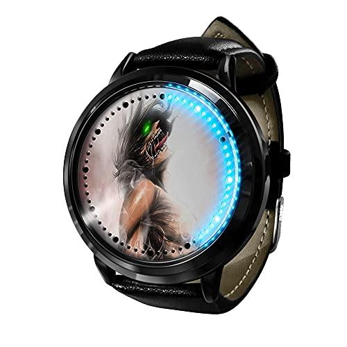 Attack on Titan Reloj Inteligente con LED Pantalla táctil Reloj de Pulsera para Niños y Niñas El Reloj de Niños Reloj con Dibujos Animados Bonitos de 236D a Prueba de Agua Regalo para Niños y Niñas