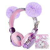 Auriculares inalámbricos para Niños, Auriculares Bluetooth para Niñas con Oreja mullida, Auriculares Ajustables sobre la Oreja con micrófono para niños, Regalo de cumpleaños de Navidad(inalámbrico)