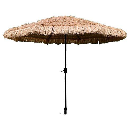 NMDD Paraguas de Playa al Aire Libre Paja de Patio 270cm Paraguas para Hawaiano Tropical, Protector Solar UV, sin Base
