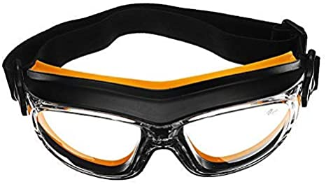 NOBRAND Polvo Resistente a los Golpes del Viento Química Pintura en Aerosol Protección contra Salpicaduras Protección para los Ojos Lugar de Trabajo Gafas de Seguridad - Naranja