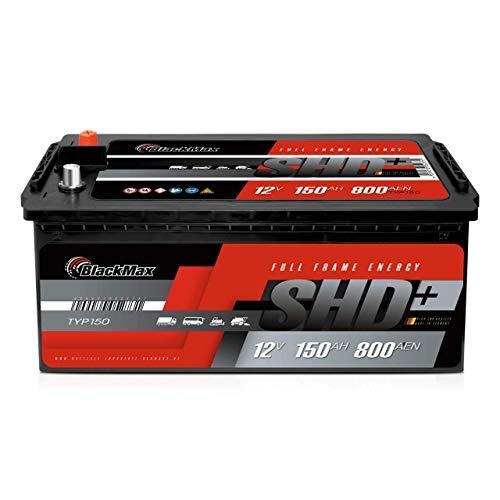 BlackMax LKW Batterie 150Ah anstatt 120Ah 135Ah 140Ah Traktor Landmaschinen Starterbatterie 12V 800A/EN