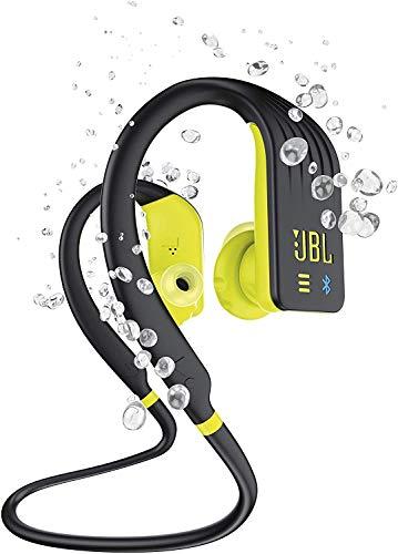 JBL Endurance DIVE, Auricolari Bluetooth Senza Fili Waterproof IPX7 per Sport, Controlli Touch, Lettore MP3 integrato, 8h di Autonomia, Nero/Giallo