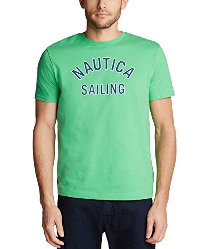 Nautica Camiseta de manga corta para hombre, 100% algodón, serie náutica - verde - XX-Large