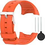 Silicone Wristband for Polar M400/M430, Classic Soft Adjustable Replacement Wrist Watch Band for Polar M400/M430 Watch Accessories (A1-orange)