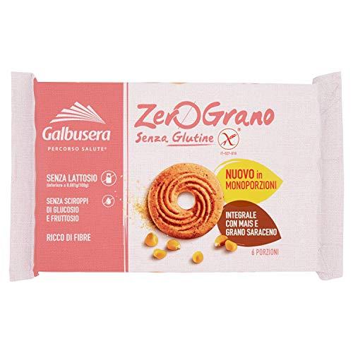 Galbusera ZeroGrano Biscotti Integrali con Mais e Grano Saraceno senza Glutine e senza Lattosio, 220g